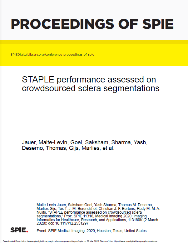 STAPLE performance assessed on crowdsourced sclera segmentations