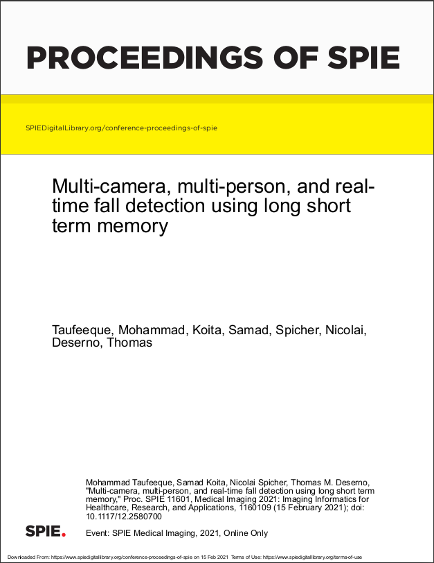 Multi-camera, multi-person, and real- time fall detection using long short term memory