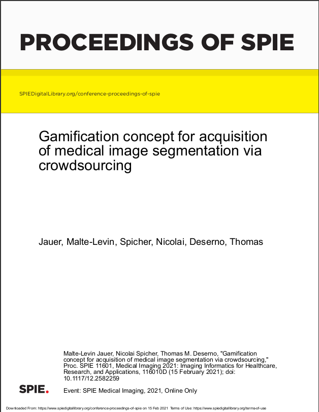 Gamification concept for acquisition of medical image segmentation via crowdsourcing