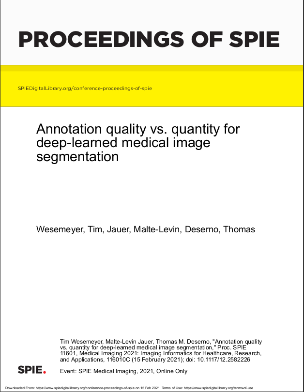 Annotation quality vs. quantity for deep-learned medical image segmentation