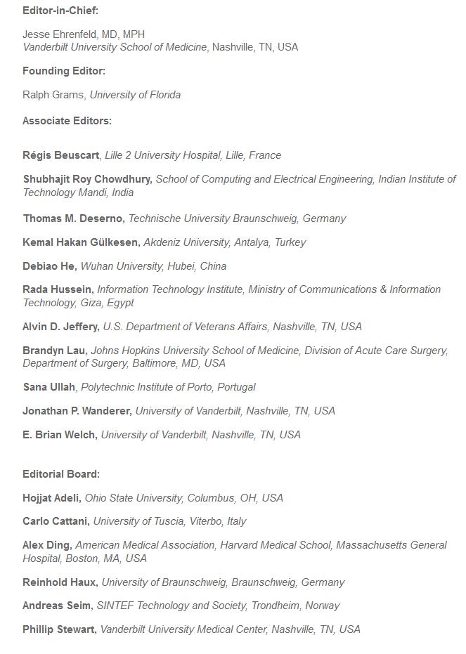 Prof. Deserno ab sofort Mitherausgeber für das Journal of Medical Systems