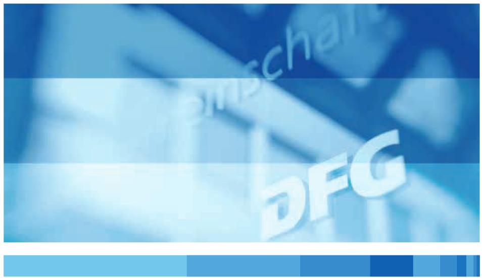DFG I: Neue Leitlinien zur Sicherung guter wissenschaftlicher Praxis