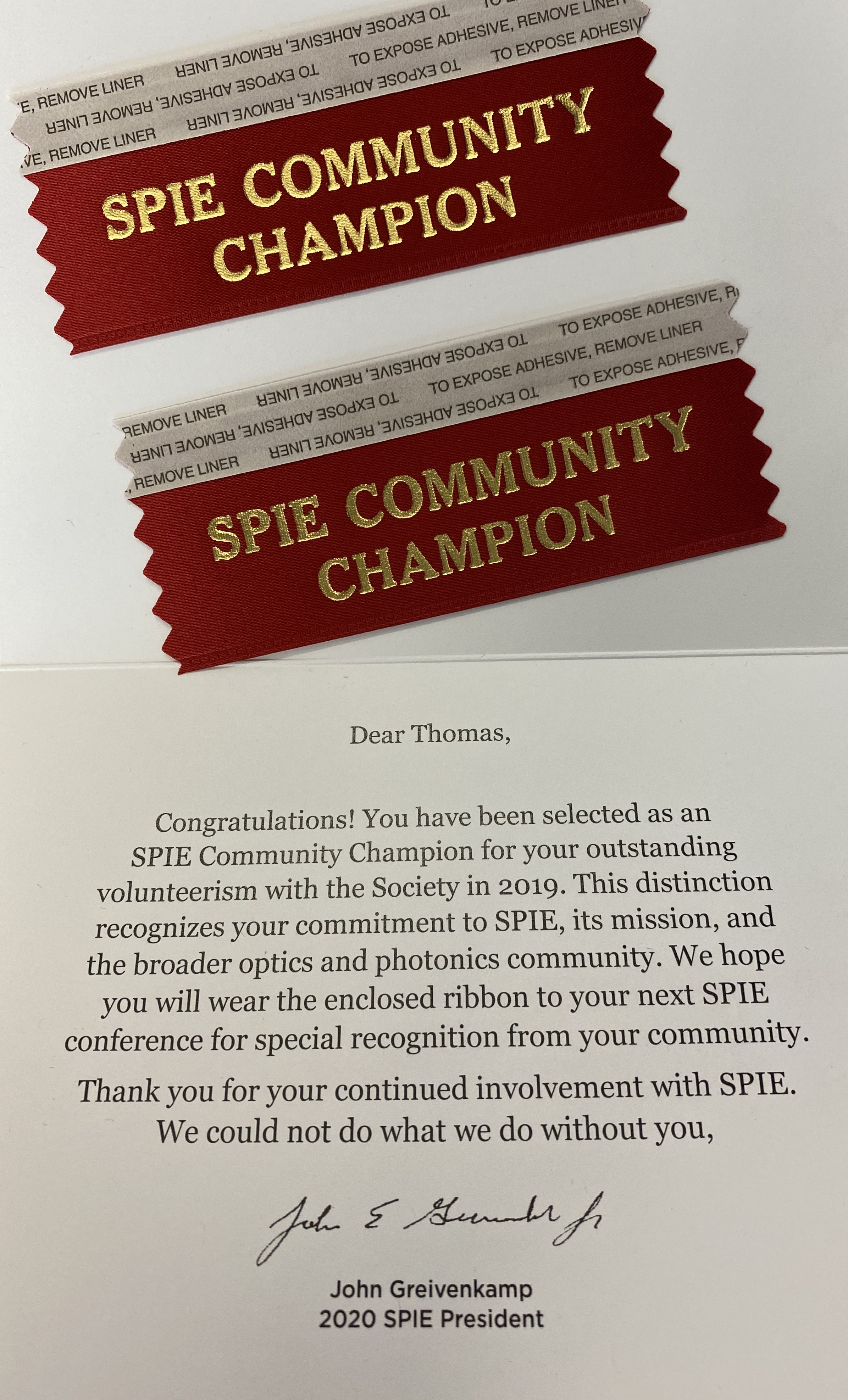 SPIE Community Champion